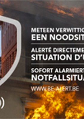 Une situation d'urgence près de chez vous ? BE-Alert vous informe !